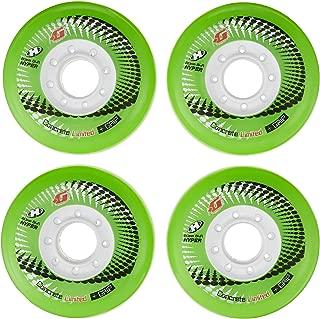 HYPER CONCRETE+G GREEN 80MM/84A (4 WHEELS per pack) - inline wheels for freeride, recreational and slalom - inline hockey wheels - roller blade wheels - outdoor skate wheels