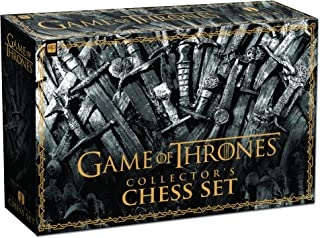 USAOPOLY Game of Thrones Collector's Chess Set   Collectible 32 Custom Sculpt Chess Pieces HBO Game of Thrones TV Characters