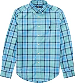 Polo Ralph Lauren Kids - Plaid Cotton Poplin Shirt (Big Kids)