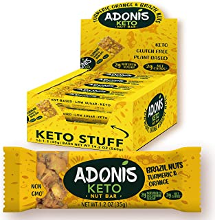 Adonis Low Sugar Nut Bar - Barritas de Nueces del Brasil Crujiente sabor Cúrcuma y Naranja | 100% Natural, Baja en Carbohidratos, Sin Gluten, Vegano, Paleo, Keto (16)