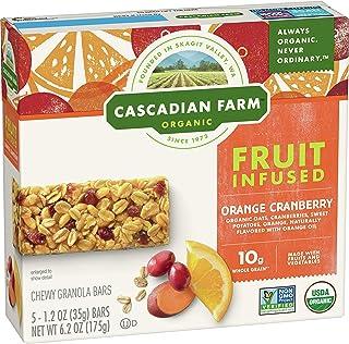 Cascadian Farm Organic, Orange Cranberry Chewy Granola Bars, 5 Count, 6.2 oz