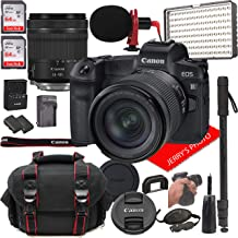 Canon EOS R Mirrorless Digital Camera with 24-105mm f/4-7.1 Lens Bundle + LED Video Light, Microphone, Monopod, and More (...