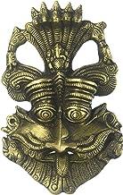 Kirtimukha Wall Hanging Mask with Ganesha ATOP - Brass Statue