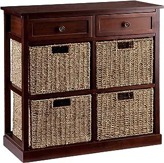 Southern Enterprises Kenton 4-Basket Storage Chest, Brown