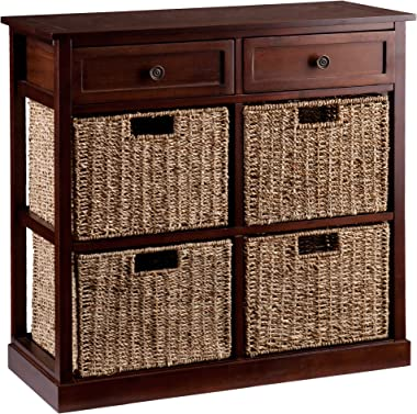 Southern Enterprises Kenton 4-Basket Storage Chest, Brown
