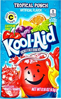 Kool Aid Tropical Punch Drink Mix, Makes 2 Quarts (0.16 oz Packets, Pack of 96)