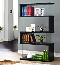 Best black glass bookcase Reviews