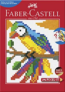Faber-Castell 201572Pixel It Colouring Book with 32Designs, 1Piece
