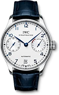 IWC Men's Swiss Automatic Watch with Stainless Steel Strap, Black (Model: IW500107)