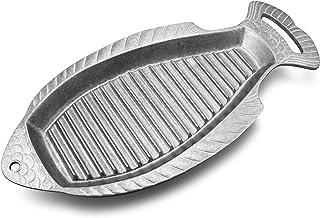 Wilton Armetale - Sartén parrilla con asas, 46 cm 18-3/4-Inch by 8-1/2-Inch Asador de pescado