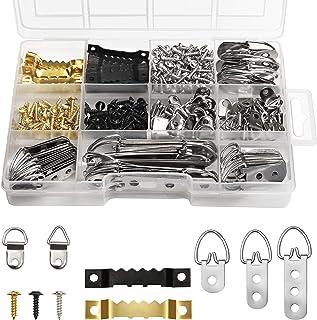 Belle Vous Kit Suspension Photo Charge Lourde dans une Boite (415 Pcs) - Crochets en Dents de Scie et Anneau en D pour la ...