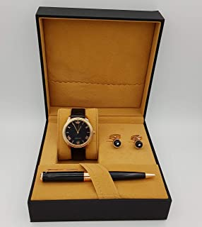 New Fande Watch Set For Men Analog Leather - NF010166-1