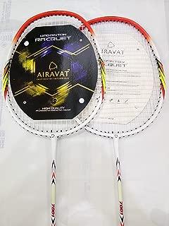 Airavat Badminton Racquet With (Strung) Multicolour (Pack Of 2)