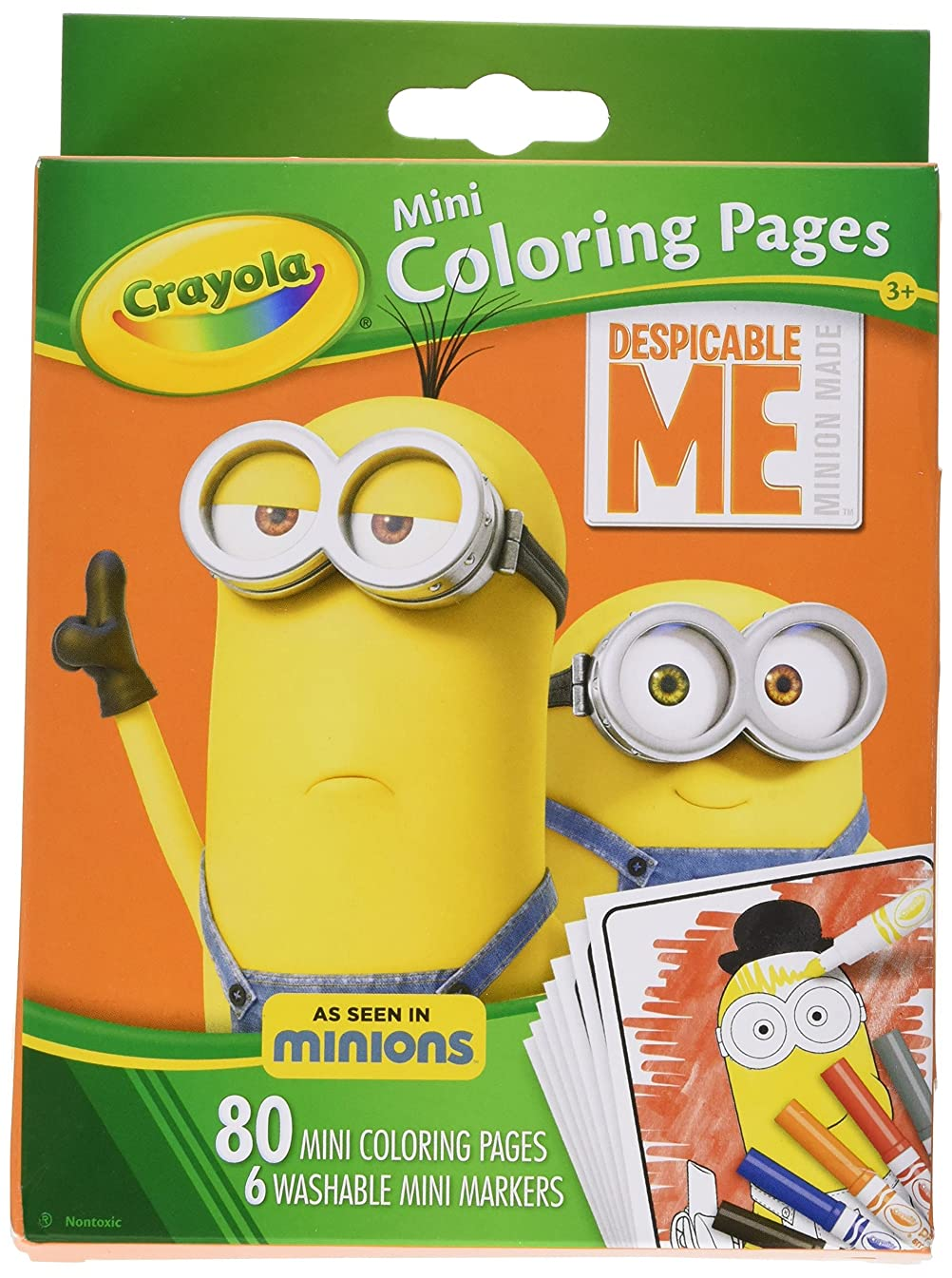 Crayola Despicable Me Mini Coloring Pages