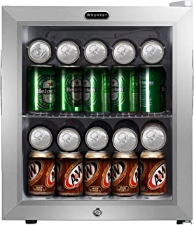 Whynter BR-062WS, 62 Can Capacity Stainless Steel Beverage Refrigerator with Lock, White
