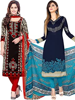 Salwar Studio Women's Pack of 2 Synthetic Unstitched Dress Material Combo-MONSOON-2158-2162