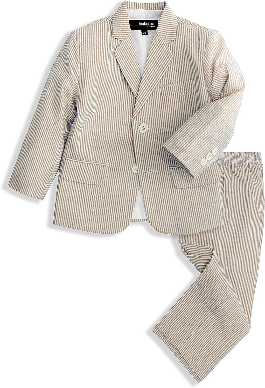 SALENEW very popular Gino Giovanni Boys Seersucker Suit mart Button 2 Set