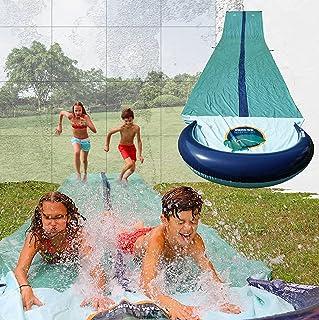TEAM MAGNUS Wasserrutsche XXL 950x160cm - Slip und Slide aus strapazierfähigem 0.22mm PVC 9.5m Wasserrutsche