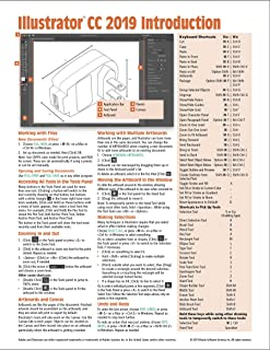 Adobe Illustrator CC 2019 Introduction Quick Reference Guide (Cheat Sheet of Instructions, Tips & Shortcuts - Laminated Card)
