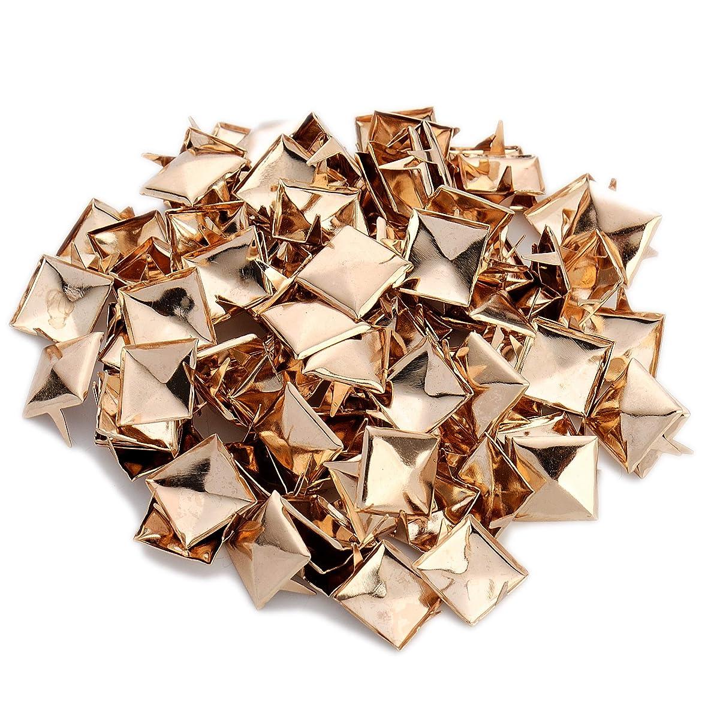 100pcs Punk Colors Metal Square Pyramid Rivet Cone Studs Nailhead Craft Spike DIY 12mm 1/2