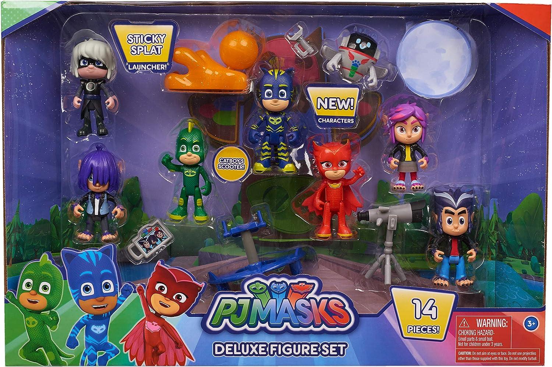 PJ Masks Juego de figuras de lujo de 16 piezas