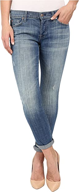 7 For All Mankind Josefina w/ Rolled Hem in Bright Light Broken Twill