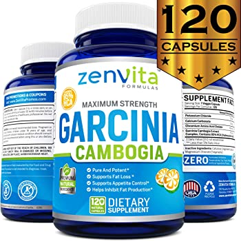 100% Pure Garcinia Cambogia Extract 95% HCA - 120 Capsules - 2100 mg Appetite Suppressant, Non-GMO & Gluten Free, Highest Potency, Maximum Strength Garcinia Cambogia Weight Loss Supplement