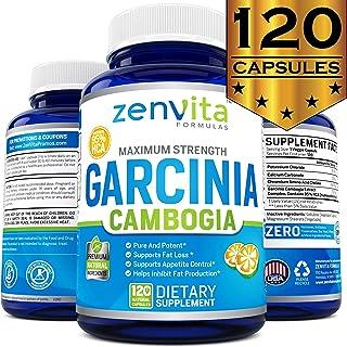 100% Pure Garcinia Cambogia Extract 95% HCA - 120 Capsules - 2100 mg Appetite Suppressant, Non-GMO & Gluten Free, Highest ...