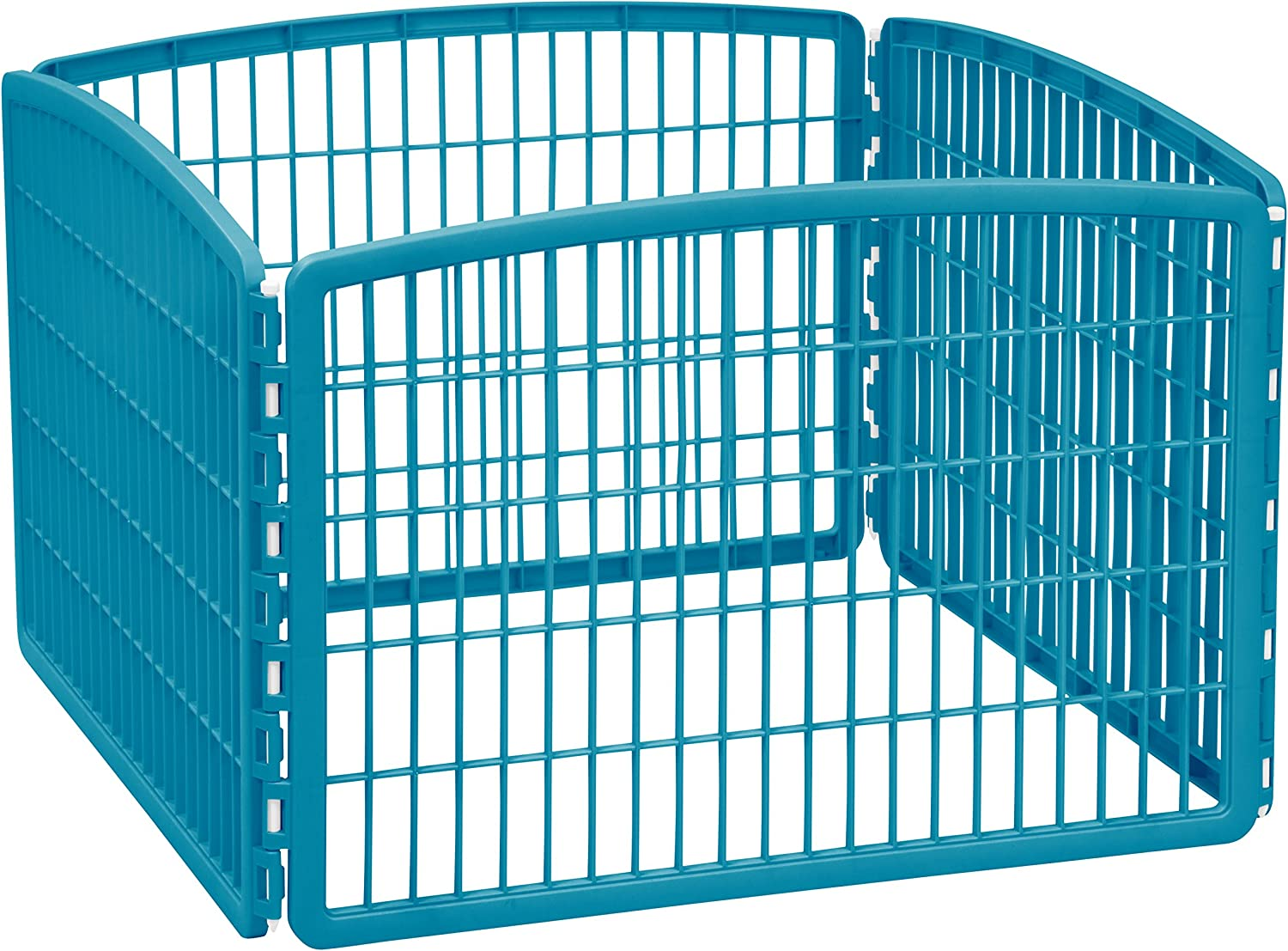 IRIS 24'' Exercise 4Panel Pet Playpen without Door, bluee Moon