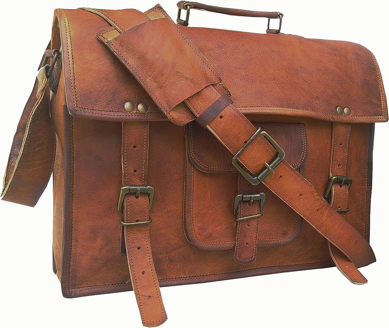 Men's Auth Real Leather Messenger Bags Laptop Briefcase Satchel Mens Bag by GBagT (Model 2)