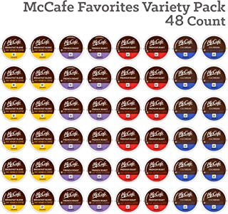 McCafé Favorites Variety Pack Collection Sample Pack, Single Serve K-Cup Pods, Variety Pack for Keurig Brewers, 48 count