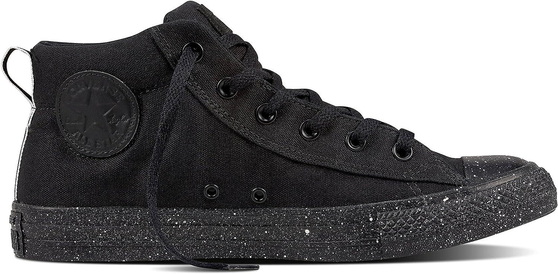Converse Chuck Taylor All Star Street Mid Sneakers Black White Black Size 11 Men 13 Women