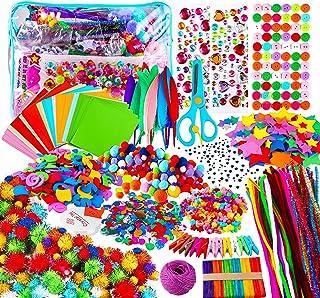 Yojoloin Kits de Loisirs Créatifs Bricolage Enfant 5 6 7 8 Ans,1800+pcs Activites Manuelles avec Paillettes,Pompons, Plum...