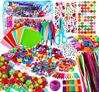 Yojoloin Kits de Loisirs Créatifs Bricolage Enfant 5 6 7 8 Ans,1800+pcs Activites Manuelles avec Paillettes,Pompons, Plume...