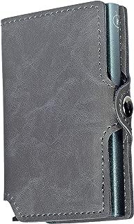 Mini Wallet | Carteira de alumínio e couro| Cinza