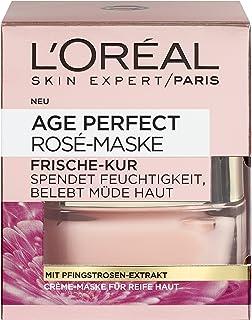L'Oréal Paris Age Perfect Golden Age Rosé-Masker, Frisse Kuur met Pioenrozenextract voor de Rijpe Huid, Verkwikkend Crèmem...