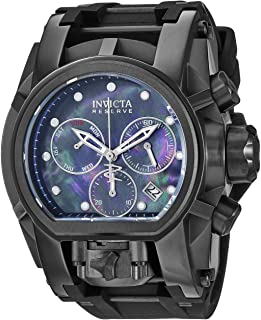 Invicta Men's Reserve Stainless Steel Quartz Watch with Silicone Strap, Black, 25.75 (Model: 26712)