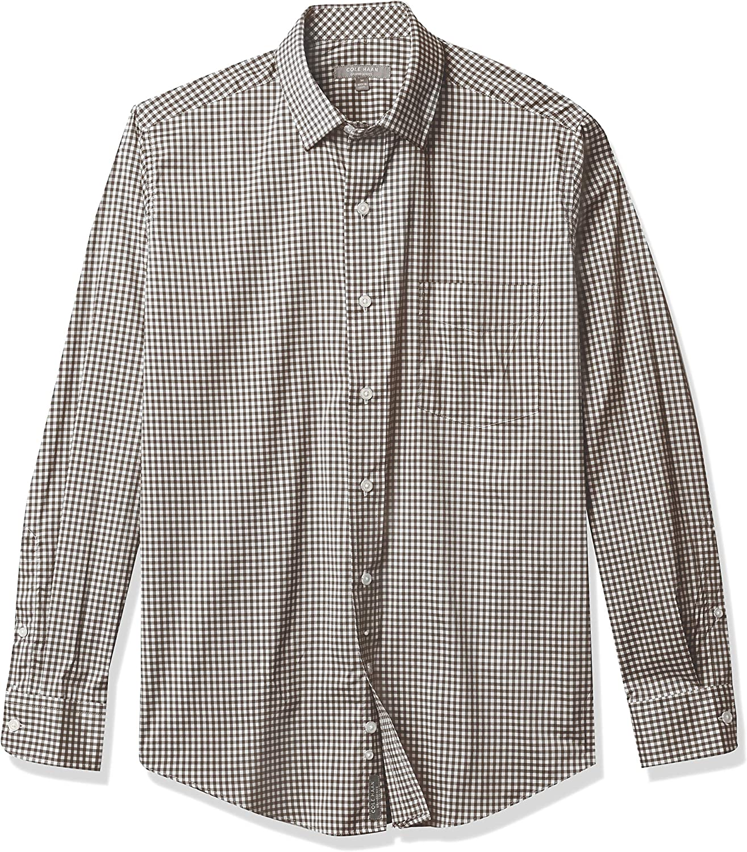 Cole Haan Men's Buttondown Long Sleeve Performance Stretch Gingham Shirt