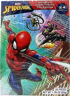 Marvel Spiderman 2018 Milk Chocolate Christmas Advent Countdown Calendar, 1.76 oz