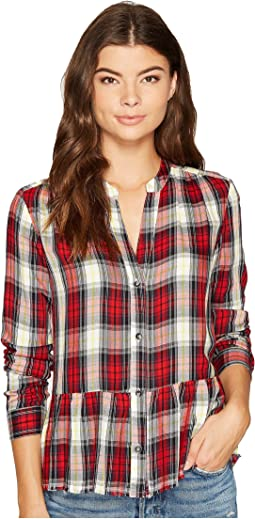 Splendid - Cropped Shirt with Fray
