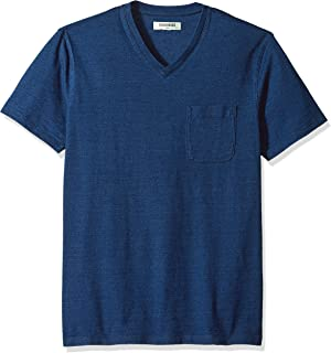 Men's Short-Sleeve Indigo V-Neck Pocket T-Shirt