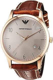 Armani Men's Watch Beta Analogue Quartz Ar1866, Brown Band
