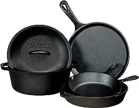 Lodge L5HS3 5 Piece Set Cast Iron Set, Black