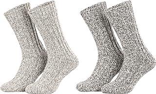 Piarini, 4 pares de calcetines noruegos muy cálidos - Unisex - Varios colores