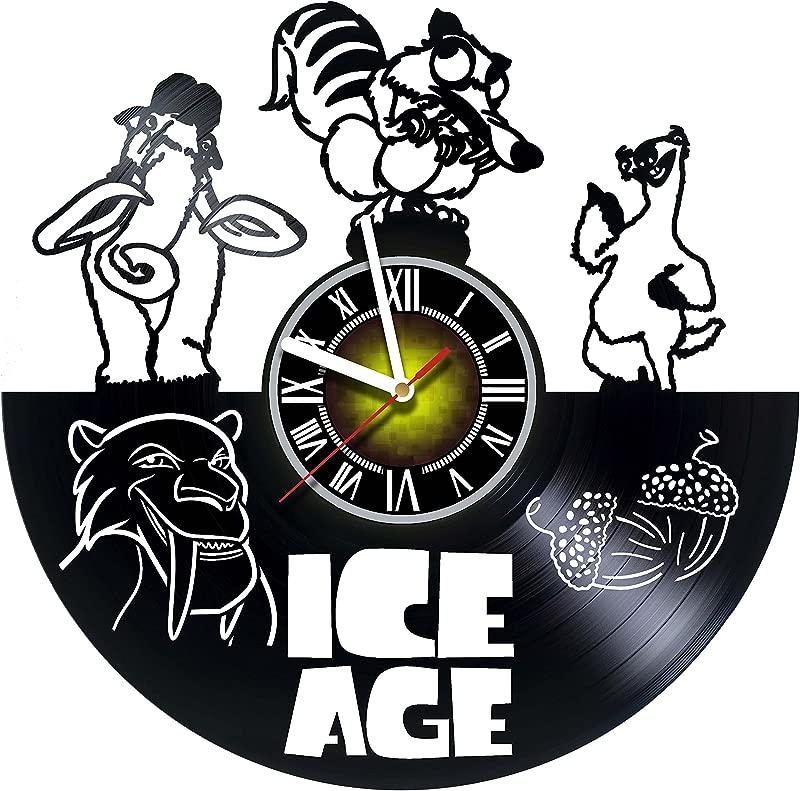 Toffy Workshop Ice Age Handmade Art Vinyl Record Wall Clock Artwork Gift Idea For Birthday Christmas Women Men Friends Girlfriend Boyfriend And Teens Living Kids Room Nursery