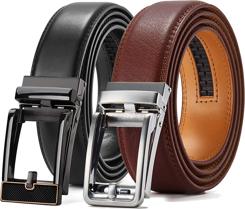 Leather Ratchet Dress Belt Super Special SALE held 2 Pack Ranking TOP5 8