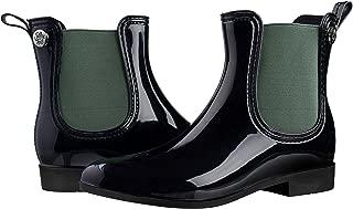 Silky Toes Women's Fashion Elastic Slip On Short Rain Boots