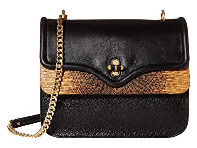 Rebecca Minkoff Phoebe Shoulder Bag (Black/Nutmeg) Handbags