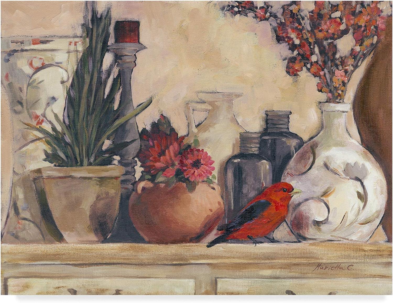 Trademark Fine Art Vases and Pots Wall Decor by Marietta Cohen, 14x19