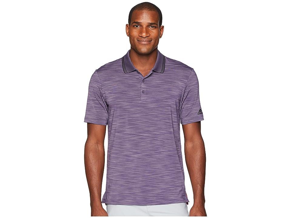adidas Golf Ultimate Heather Polo (Trace Purple Heather/Black) Men